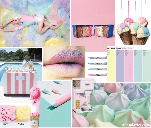 use mood board to create brand image